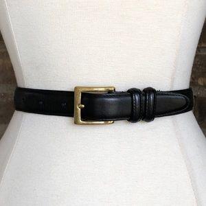 Coach Belt L Black Leather Women's